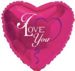 "18"" I Love You Heart Foil Balloon"